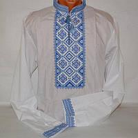 Вышиванка для мужчин синие нитки