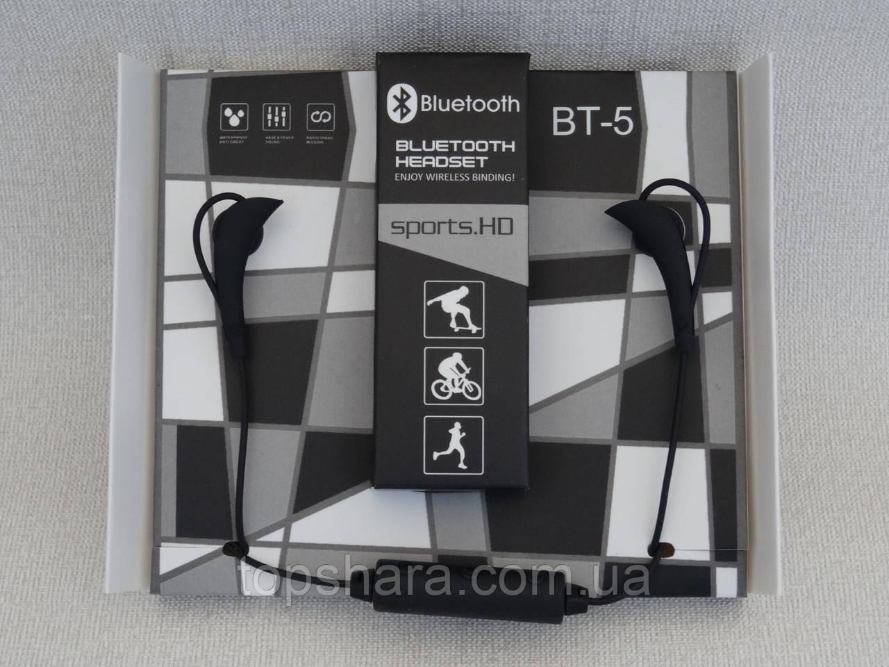 Наушники беспроводные Bluetooth BT-5 черные
