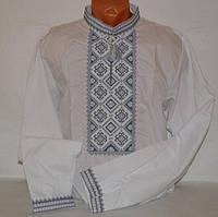 Вышиванка для мужчин серые нитки