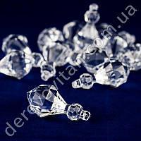 """Подвеска-кристалл """"Камень с огранкой"""", 15 шт."""
