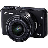 Цифровий фотоапарат Canon EOS M10 + 15-45 IS STM Kit Black (0584C040)