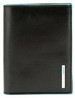 Портмоне Piquadro Blue Square 9,5х12,5х1,5 см. вертикальное с отделением для документов PU1394B2_N черный кожа
