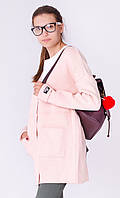Стильный женский кардиган на пуговицах с карманами