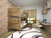 """Детская двуярусная деревянная кровать """"Трансформер 13"""""""