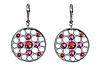 """Серьги """"Терви"""" с кристаллами Swarovski, покрытые родием (j512f110), фото 2"""