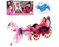 Карета с лошадкой и куклой с аксессуарами 689Y