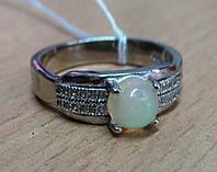 """Оригинальное кольцо с натуральным  опалом """"Банан"""", размер 17.4 , от студии LadyStyle.Biz"""