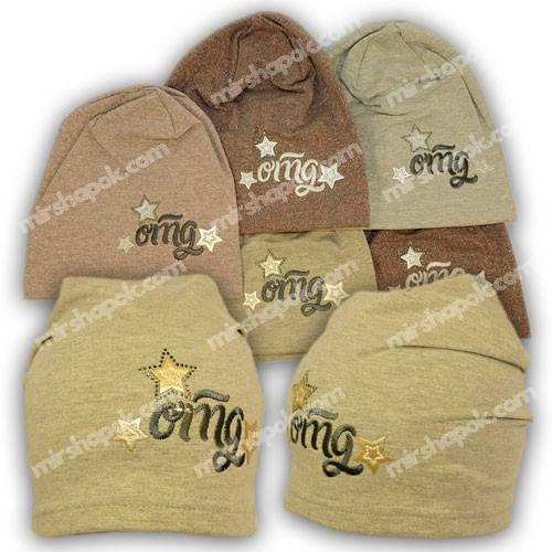 Детские шапки из трикотажа для девочки, 743