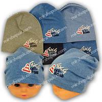 ОПТ Детские шапки из трикотажа для мальчика, 744 (5шт/упаковка)
