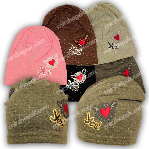Детские шапки из трикотажа для девочки, 768