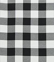 Фланель рубашечная бело-черная клетка