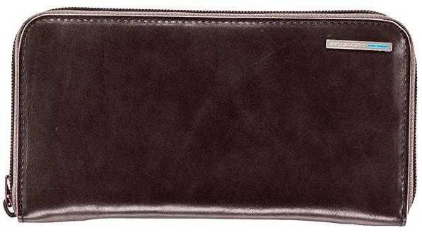 4bc77aa7d27c Классический женский кожаный кошелек Piquadro на молнии PD1515B2_MO  коричневый - Bigl.ua