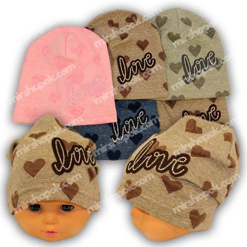Трикотажные шапки для девочки, 786