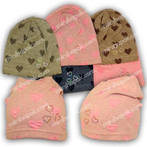Детские шапки из трикотажа для девочки, 794