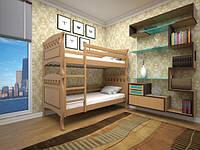 """Детская двуярусная деревянная кровать """"Трансформер 5"""""""