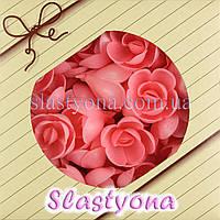 Вафельные Розы большие (розовые, 35 мм, 56 штук)