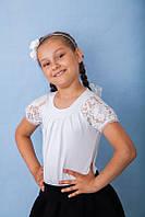 Нарядная школьная подростковая белая блузка р.34,36,38,40