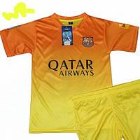Детско-подростковая(7-15 лет)футбольная форма ''Месси'', ''Неймар''-ФК''Берселона''- желто-оранжевая, гостевая