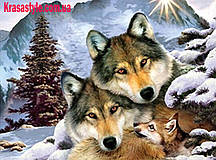Алмазная 5D вышивка Волки