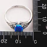 Опал кольцо с опалом в серебре. Размер 18, фото 5