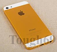 Корпус Apple iPhone 5 золотой  металлический.