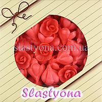 Вафельные Розы малые (красные, 25 мм, 160 штук)