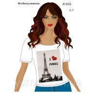 Футболка с рисунком женская I love Paris