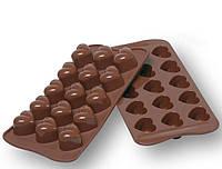 """Форма для льда, шоколада , конфет """" Сердечки из 15 ти """""""
