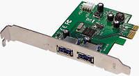 Контроллер PCI-E  USB3.0 2port NEC скорость передачи 5000 Мбіт/ сек (0093.2)