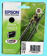 Картридж Epson Stylus Photo T0821N Black для: R270; R290; R295; R390; RX590; RX610; RX615; RX690; T50; T59; TX650; TX659; TX700W; TX710W; TX800FW.