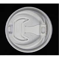 Крышка пластиковая белая универсальная с поилкой для стакана 12J16, 12X16, 16J16 100шт/уп