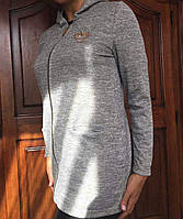 Женская кофта-кардиган на молнии, с капюшоном, M,L р-ры, 210/240 (цена за 1 шт. + 30 гр.)