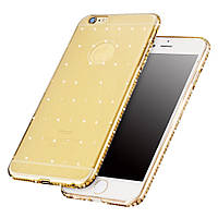 Чехол Cristall Silicon Case iPhone 5/5S Gold