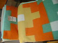 Одеяло шерстяное жаккардовое тм VLADI 140х205см Тетрис