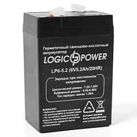 Аккумулятор Logicpower 6V 5.2Ah (LP6-5.2), фото 1