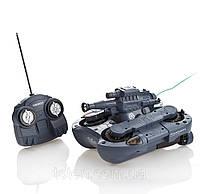 Танк амфибия вездеход на радиоуправлении 24883. Стреляет пульками. Ездит на суше и плавает на воде.