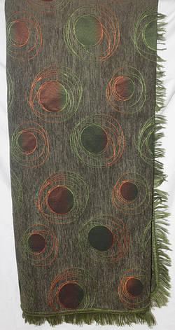 Покрывало на большую кровать (дивандеки) Турин зеленого цвета, фото 2