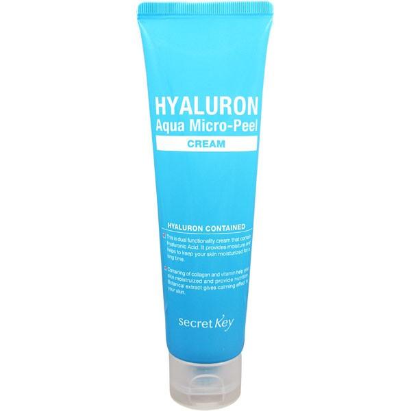 Увлажняющий крем с эффектом пилинга Secret Key Hyaluron Aqua Micro-Peel Cream, 70ml