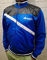 Мужская курточка трикотаж+плащевка на молнии, фото 1