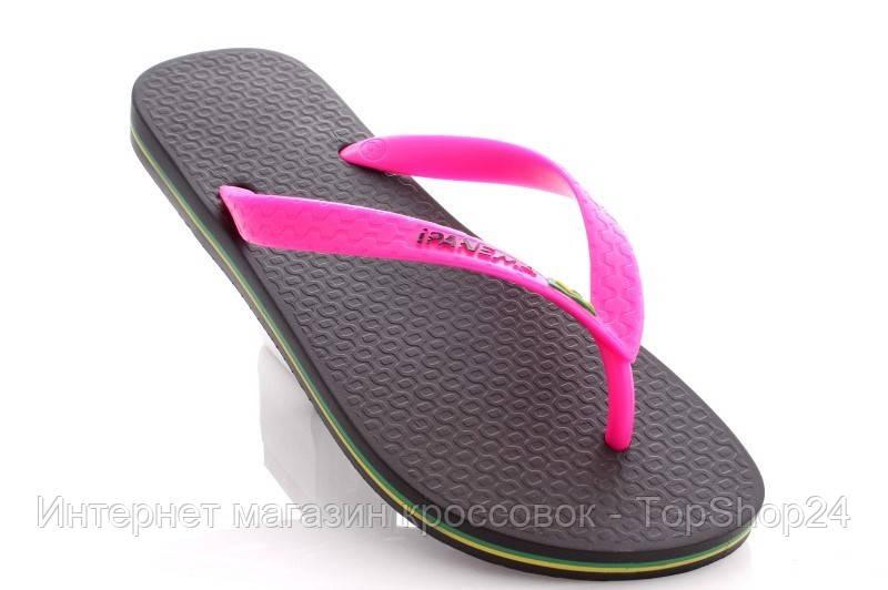 Женские вьетнамки Ipanema Clas Brasil II Black/Pink