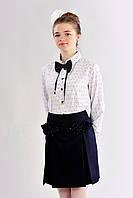 Блузка для школы для девочек Алана  размеры 146, 152, 158   оптом и в розницу