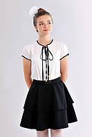 Блузка для школы для девочек Асель  размеры 146, 152, 158, 164   оптом и в розницу