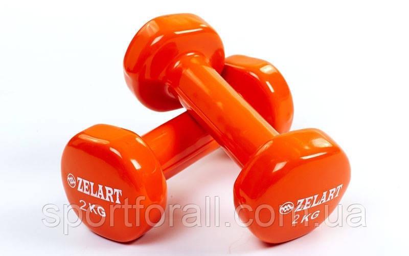 Гантели для фитнеса с виниловым покрытием Beauty  TA-5225-2 кг