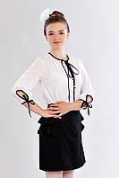 Блузка для школы для девочек Алиса  размеры 146, 152, 158оптом и в розницу