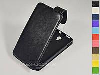 Откидной чехол из натуральной кожи для Alcatel 8008D One Touch Scribe HD