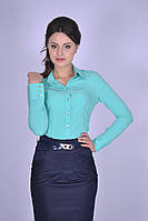 Классическая женская рубашка Мятная Кристина Размер 44-50