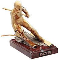 Бронзовая статуэтка «Горнолыжник (золотой)» Vizuri S03/P