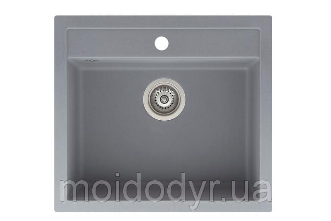 Гранитная мойка Аквасанита Квадро -  Aquasanitа Quadro sqq 100 алюметаллик