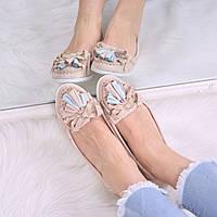 Туфли лоферы женские Rasty пудра беж 3506 40 размер, балетки женские