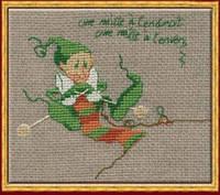 59-A0030 К (Aida) Набор для вышивания крестом NIMUЁ - Mac 7 Tricote - Мак 7 Вязание